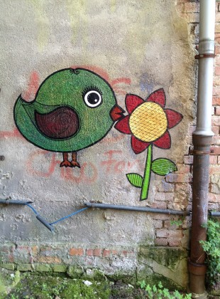 Bird & Flower Paste Up