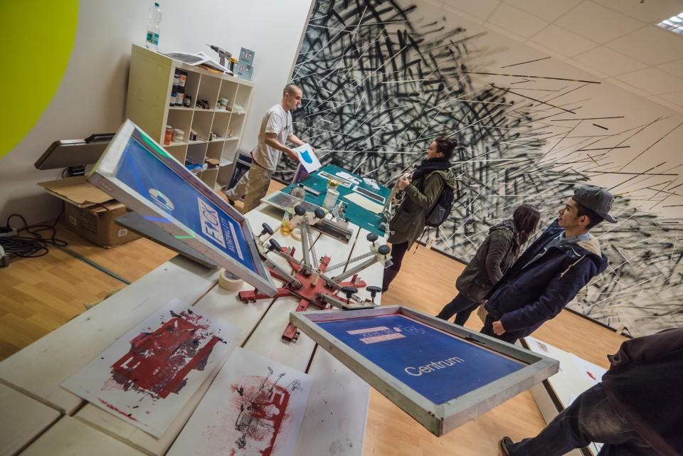 Siebdruck Auftrag Centrum Galerie Dresden